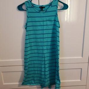 Seafoam green & blue Gap dress
